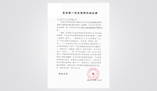 企業統一社會信用代碼證